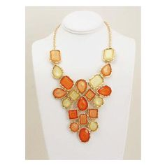 Orangina Statement Necklace...only Clemson girls can pull this off:)