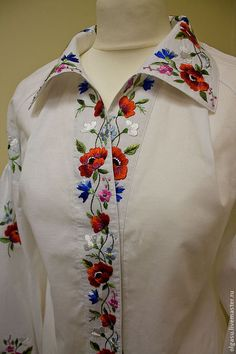 Embroidered blouse floral blouse by Handembroiderykvitka on Etsy