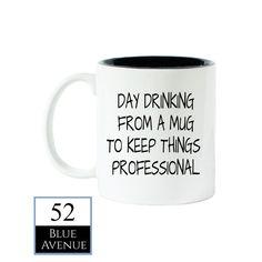 Tag trinken aus einen Becher Kaffee Becher von 52BlueAvenue auf Etsy