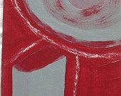 YEAR END SALE 25% off Looking Through Energy acrylic on fiberboard 5 inches x 8 inches