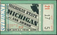 1931 at Ann Arbor: Michigan 0, Michigan State 0