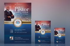 Pastor Appreciation Flyer Poster by Godserv Designs on @creativemarket
