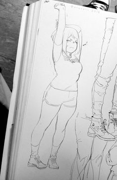 """arucelli: """"Uraraka is strong pudgy marshmallow princess and you can't tell me otherwise """" Cool Art Drawings, Art Drawings Sketches, Chibi, Pretty Art, Cute Art, Character Design Girl, Character Art, Arte Sketchbook, Art Poses"""