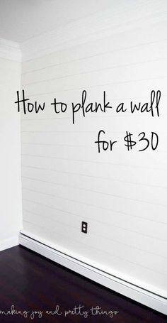 How to Plank a Wall for 30 DIY Shiplap How to Plank a Wall for 30 DIY Shiplap shiplap wall diy shiplap wall how to plank a wall planked wall diy plank wall Headboards For Beds, Diy Wall, Diy On A Budget, Remodeling Hacks, Diy Home Improvement, Diy Remodel, Home Diy, Shiplap Wall Diy, Diy Plank Wall