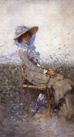 Woman in the Garden ~ Nicolae Grigorescu ~ (Romanian: Victorian Art, Love Drawings, Woman Painting, Famous Artists, Artist Art, Love Art, Unique Art, New Art, Art Gallery