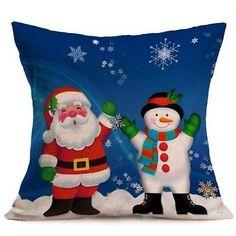 Christmas Cartoon Festival Home Room Sofa Decor Pillow Case Cushion Cover