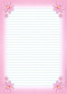 Letterheads & Envelopes - Letterheads & Envelope - Letterheads & Envelope to print: Flowers - Floral with envelopes Printable Lined Paper, Free Printable Stationery, Printable Recipe Cards, Envelopes, Ruled Paper, Notebook Paper, Borders For Paper, Journal Paper, Stationery Paper