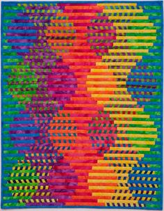spugnardidesign:  Your daily dose of color: Interleave #4: Sine of Spring. Art quilt by Lorrie Cranor.24x31