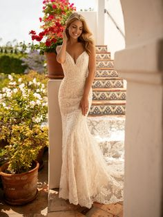 Moonlight Collection is meant for the ultimate glamourous bride. This fancy mermaid wedding gown comes with a sweetheart neckline and beaded details that give you that dazzle effect you've been searching for. Luxury Wedding Dress, Lace Mermaid Wedding Dress, Mermaid Gown, Wedding Gowns, Lace Wedding, Wedding Bride, Spring Wedding, Elegant Wedding, Wedding Ideas