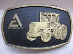 Vintage Allis Chalmers Tractor Brass Belt Buckle