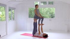 "The fifth in our Acro Yoga Series (yoga for two people). Pip and Eugene begin to demonstrate how to link postures together and introduce ""Throne"".  Beautif"