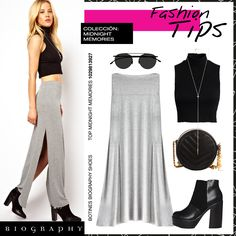 Falda Biography- Midnight Memories Collection #MaxiSkirt #Trendy #Outfit #BiographyTrend #LookBiography