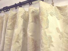 Wonderful Italian floral sandy beige Curtains Fabric by Eleptolis