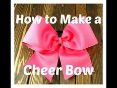 How to Make a Cheer Bow - Cheerleading Bow Tutorial Hairbow Supplies, Etc.