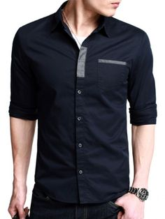 Dark blue designer casual shirt buy casual men shirts in pak Plain Shirts, Cool Shirts, Men Shirts, Muslim Men Clothing, Designer Casual Shirts, Formal Shirts For Men, Uniform Shirts, Fashion Joggers, Shirt Style
