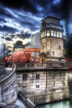 Chicago LaSalle Street Bridge by ~spudart on deviantART