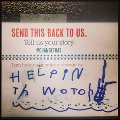 How one little person is making a change! #ChangeThat #Postcards