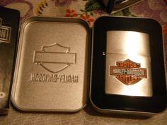 New Harley Davidson Silver Logo Zippo Lighter!! L@@K!!