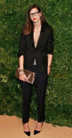 Jenna Lyons - simple chic all black