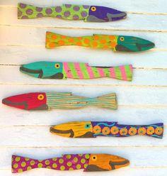 Islander Fence Fish S/6: Beach Decor, Coastal Home Decor, Nautical Decor, Tropical Island Decor & Beach Cottage Furnishings