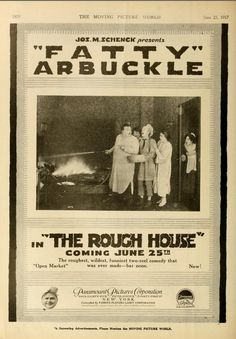 Roscoe Arbuckle, Moving Pictures, Silent Film, Comedy, Ads, Funny, House, Movies, Home