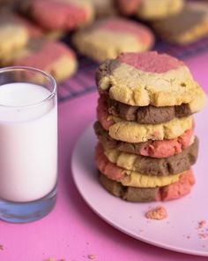 Easy Baking Recipes, Cookie Recipes, Dessert Recipes, Desserts, Chocolate Cookies, Sugar Cookies, Book Cakes, Rainbow Food, Mini Foods