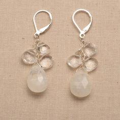 moonstone earrings long dangle earring holiday jewelry by izuly, $68.00