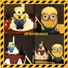 Minion birthday cake by SweetBea's www.sweetbeas.co