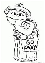 Oscar The Grouch Coolest Cat On Sesame Street My Favorites Free Coloring Pages