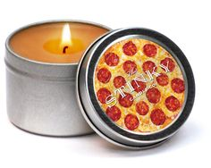 PIZZA CANDLE - Nate's dream gift.