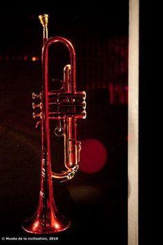 Miles Davis red trumpet
