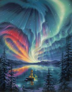 Aurora Borealis -looking like a jellyfish on acid.