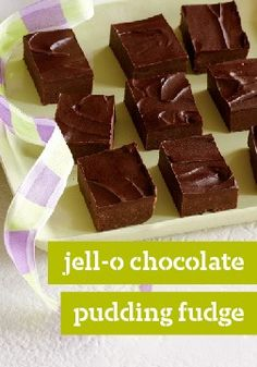 JELL-O Chocolate Pudding Fudge – One surefire way to get the smoothest, creamiest microwave fudge ever? Add some JELL-O Chocolate Pudding.