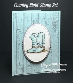 This is my first time using the Country Livin' stamp set with the Hardwood background stamp from Stampin' Up!  This is a perfect watercolored card for masculine, birthday, congratulation, really any occasion.