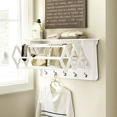 Our Corday wood drying racks make doing delicates a lot easier and add architectural detail at the same time.