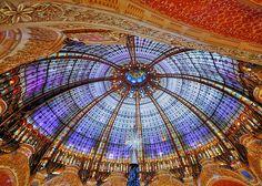 Galéries Lafayette, Belle Epoque dome, Paris