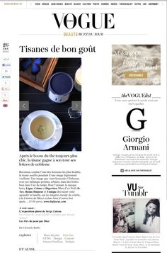 Press : L'infuseur, buzz of the day in Vogue Paris