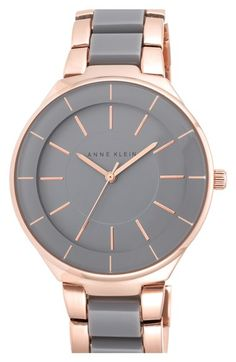 Anne Klein Round Two-Tone Bracelet Watch, 39mm available at #Nordstrom #mallchick #fashion