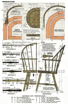 Classiс Windsor Chair Plans - Furniture Plans