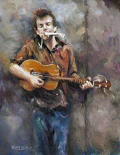 Chuck Weber - Portfolio of Works: Figurative Color Studies Music Painting, Music Artwork, Art Music, Painting & Drawing, Paint Photography, Guitar Art, Creative Artwork, Art Themes, Art Design