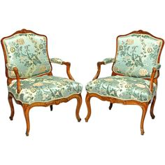 Pair of Italian Régence Fauteuil a La Reine C1730 | From a unique collection of antique and modern armchairs at http://www.1stdibs.com/furniture/seating/armchairs/