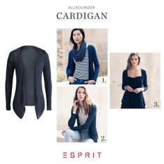 Sporty, business #casual and festive - our #navy blue #Esprit #Cardigan is a perfect all-rounder that fits every #look!