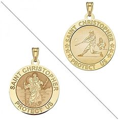 "ITI Findings Genuine 14K Yellow Gold Round Saint Thomas Aquinas Medal 3//4/"""