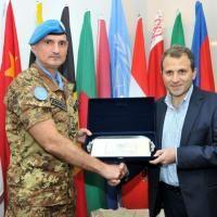 UNIFIL: il Generale Portolano incontra il Ministro degli Affari Esteri libanese.