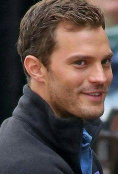 ~Jamie 's smile! Jamie Dornan, Fifty Shades Darker, Fifty Shades Of Grey, Christian Grey, Fifty Shades Trilogy, Dakota Johnson, Most Beautiful Man, Perfect Man, Beleza