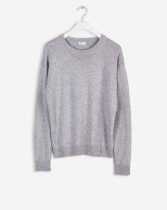 Cotton Yak Pullover Light Grey
