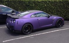 I have a new favourite car... Nissan GTR in Matte Purple