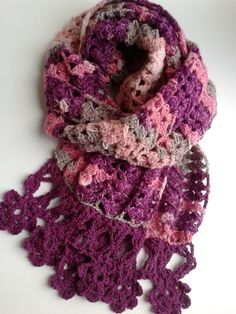'Angel Delight' crocheted scarf