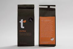 Nice tea packing design in two colours. I also like the leaf that repeats in the layout.