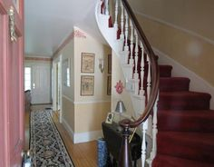 Grand, narrow, spiral staircase... 1835 Augusta ME